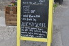 Even the A-board matches the yellow theme :-)