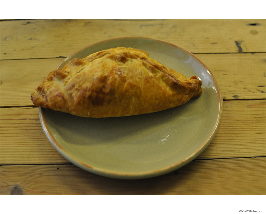 So, to business. My lunch, a Lancashire pasty. In Bristol. It was lovely.