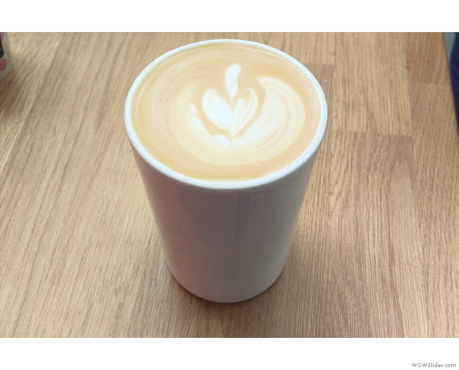 I also had a shot of my old favourite, the Blenheim Blend, as a flat white.