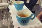 My espresso (and one for Zsuzsa).