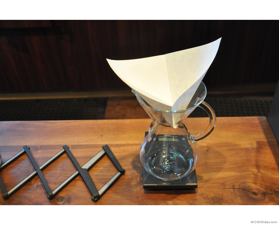 The pour-over set-up is really neat.