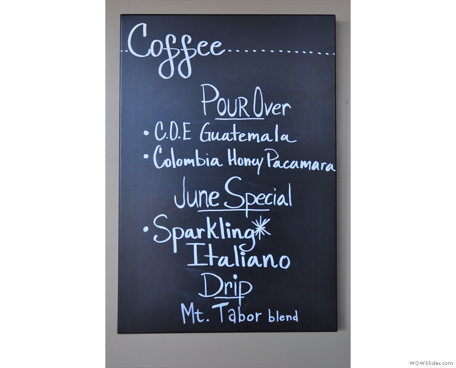 Choice of pour-over coffee...