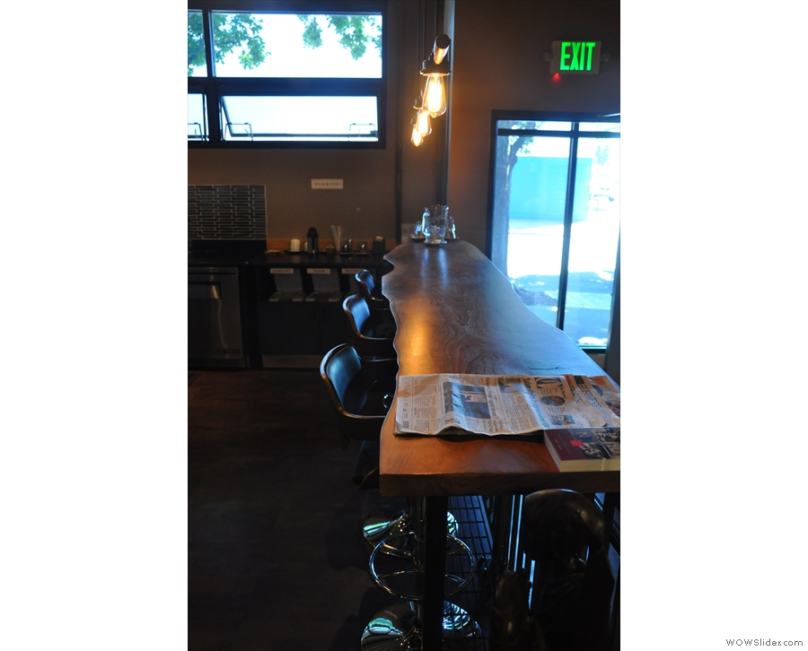 There's not much seating in here: this bar is along the ramp to the right as you enter...