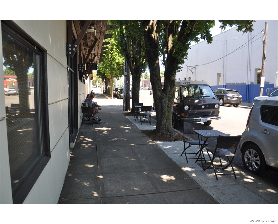 The Cupping Room Cafe has a separate entrance, down to the right along Oak Street.