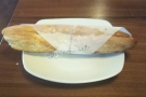 I was hungry, so I had this fromage blanc baguette with artichoke, red onion & red pepper.