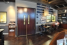 ... and the view from the counter, looking towards the back. The doors lead to the roastery.