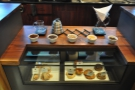 Right in the middle is this interesting section: brew-bar, display and food (below).