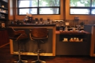 Another view of the counter seating. You can guess my favourite spot, can't you?