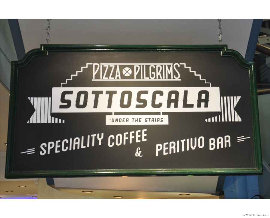 It's Sottoscala (Italian for 'under the stairs'), an espresso bar by old friends Terrone & Co.