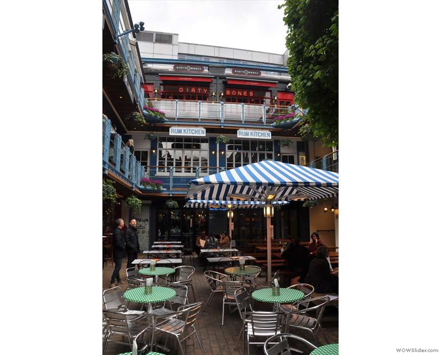 In the amazing setting of Kingly Court, Soho, you will find...