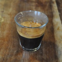 Excellent Espresso in a Glass from the Exploding Bakery, Exeter.