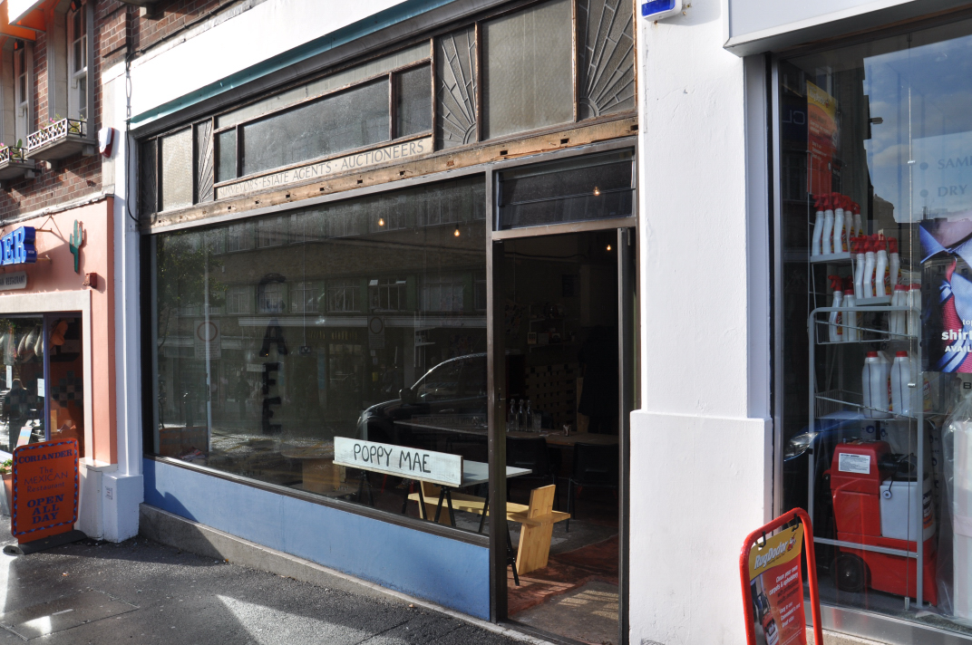 An external view of the newly opened Poppy Mae in central Bournemouth