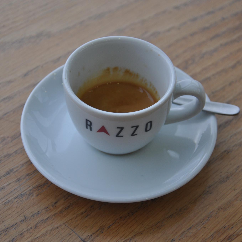 A fine Extract Espresso from Razzo Coffee, St Andrew Square, Edinburgh