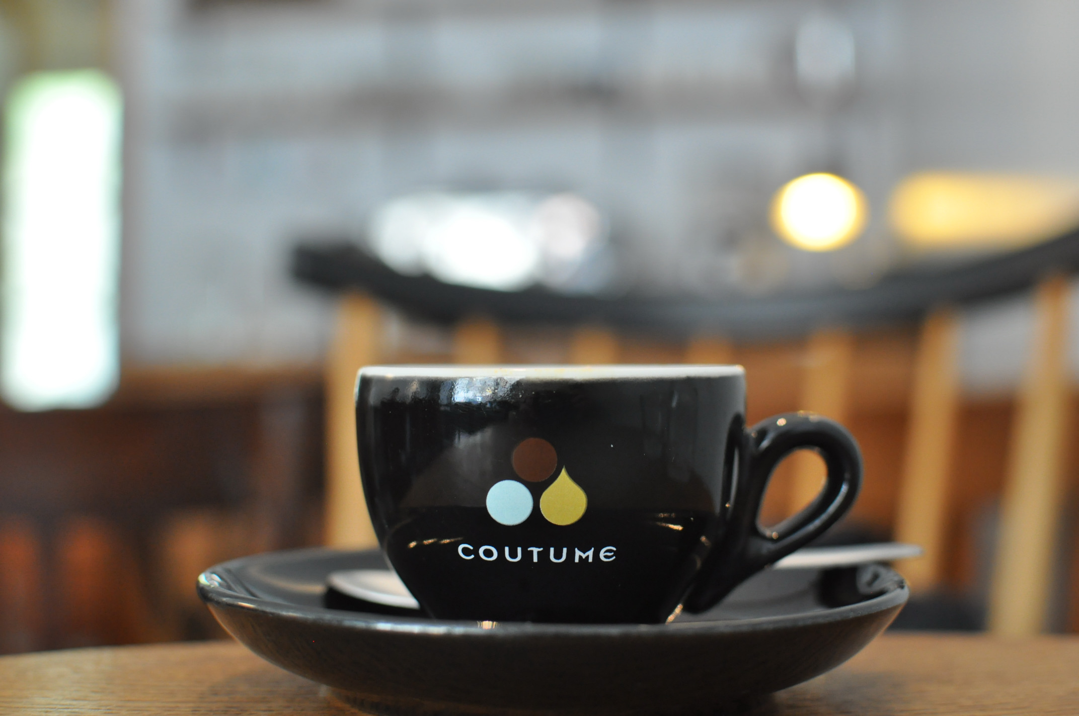 Black Market, proudly serving coffee from Parisian roasters, Coutume.