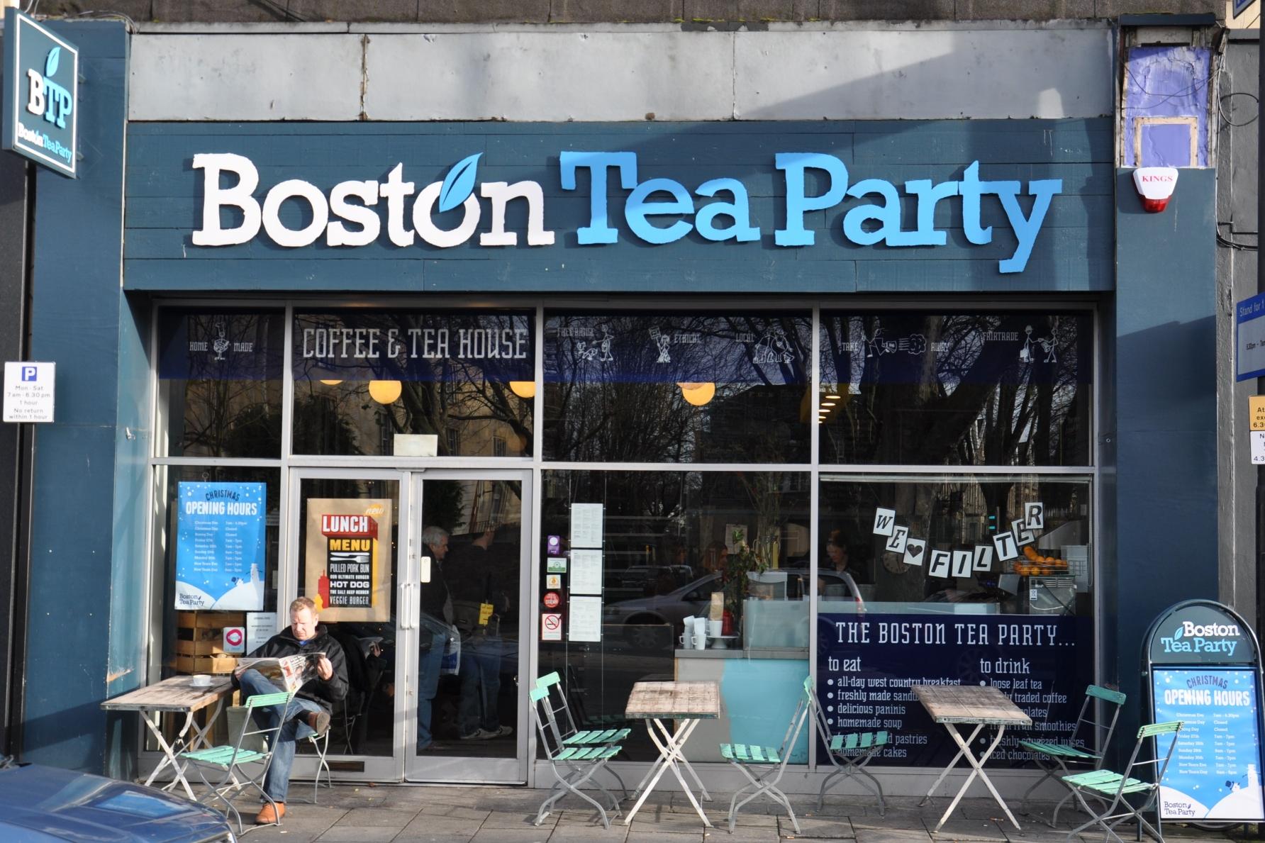 The exterior of Boston Tea Party branch on Whiteladies Road in Bristol
