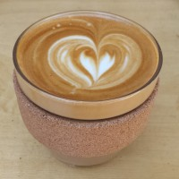 A fine flat white to go from Beany Green in my Keep Cup Brew