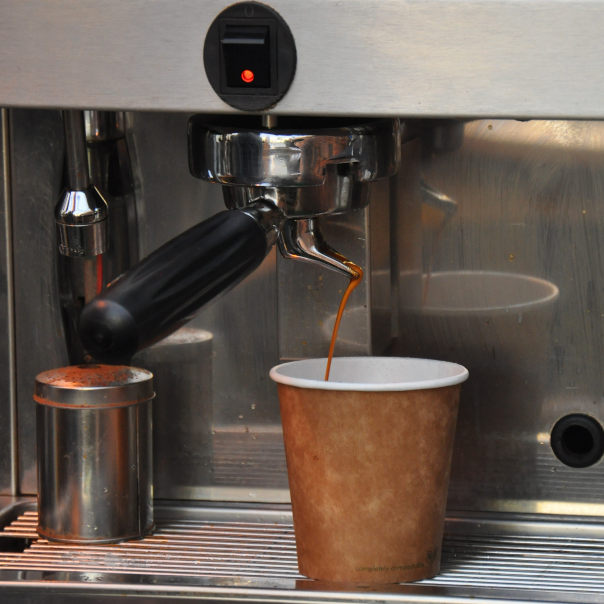 An espresso being poured via a single-spout basket at Tamp Culture in Reading