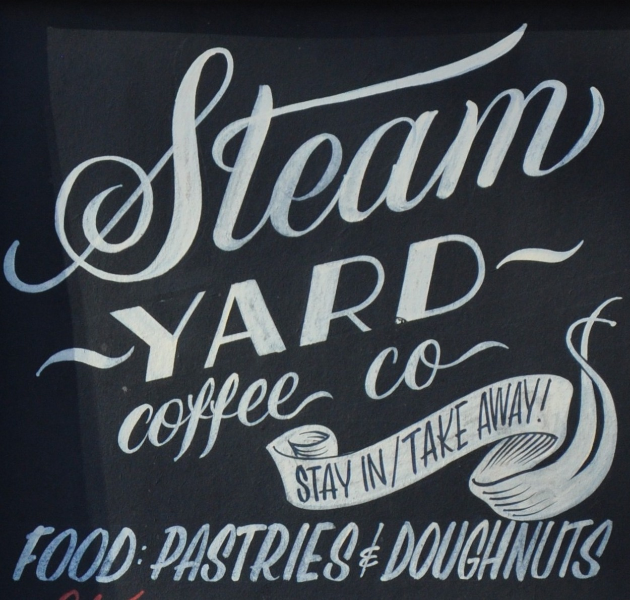 """""""Steam YARD coffee co, stay in/take away, FOOD: PASTRIES & DOUGHNUTS"""""""