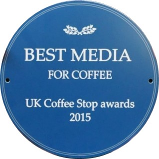 The Best Media For Coffee Award at the UK Coffee Stops Award for 2015.