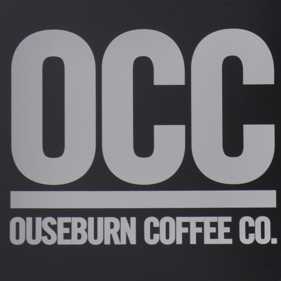 The Ouseburn Coffee Co. logo: the letters OCC in white against a black background with the words Ouseburn Coffee Co. beneath a white line.