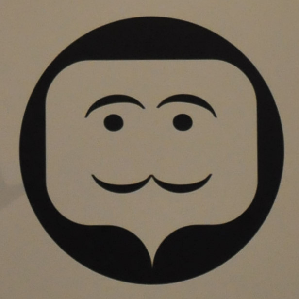 A stylised speech bubble drawn as a human face.