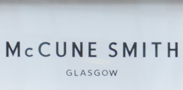 The words McCUNE SMITH GLASGOW in black typeface on white.
