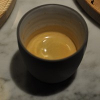 A shot of speciality coffee from an Nespresso-compatible capsule served by Maxwell Colonna-Dashwood at a talk at Modern Society.