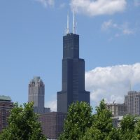 The Willis (was Sears) Tower, Chicago's tallest building and dominant feature of the downtown Chicago skyline.