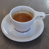 A shot of the Black Cat seasonal espresso at Intelligentsia's Old Town branch in Chicago.
