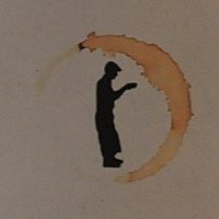 The Flat Caps Coffee logo, taken from a bag of coffee roasted to mark Flat Caps' successful Kickstarter.