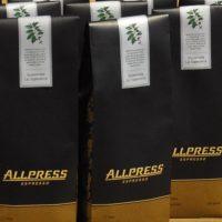 Bags of Allpress Espresso's Guatemala La Espreanza for sale at the roastery.