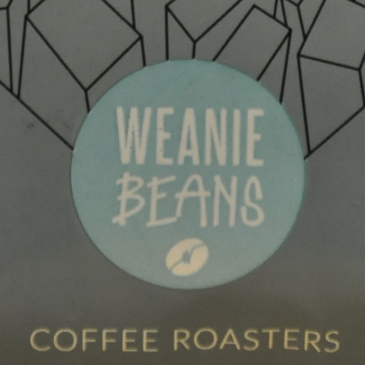 The Weanie Beans logo, taken from a bag of its Citizen Kane espresso blend.