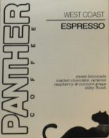 The label on Panther Coffee's West Coast Espresso Blend.