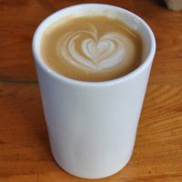 A lovely flat white at Flat Cap Victoria in my Therma Cup, made with a single-origin Brazilian coffee, roasted by Notes.