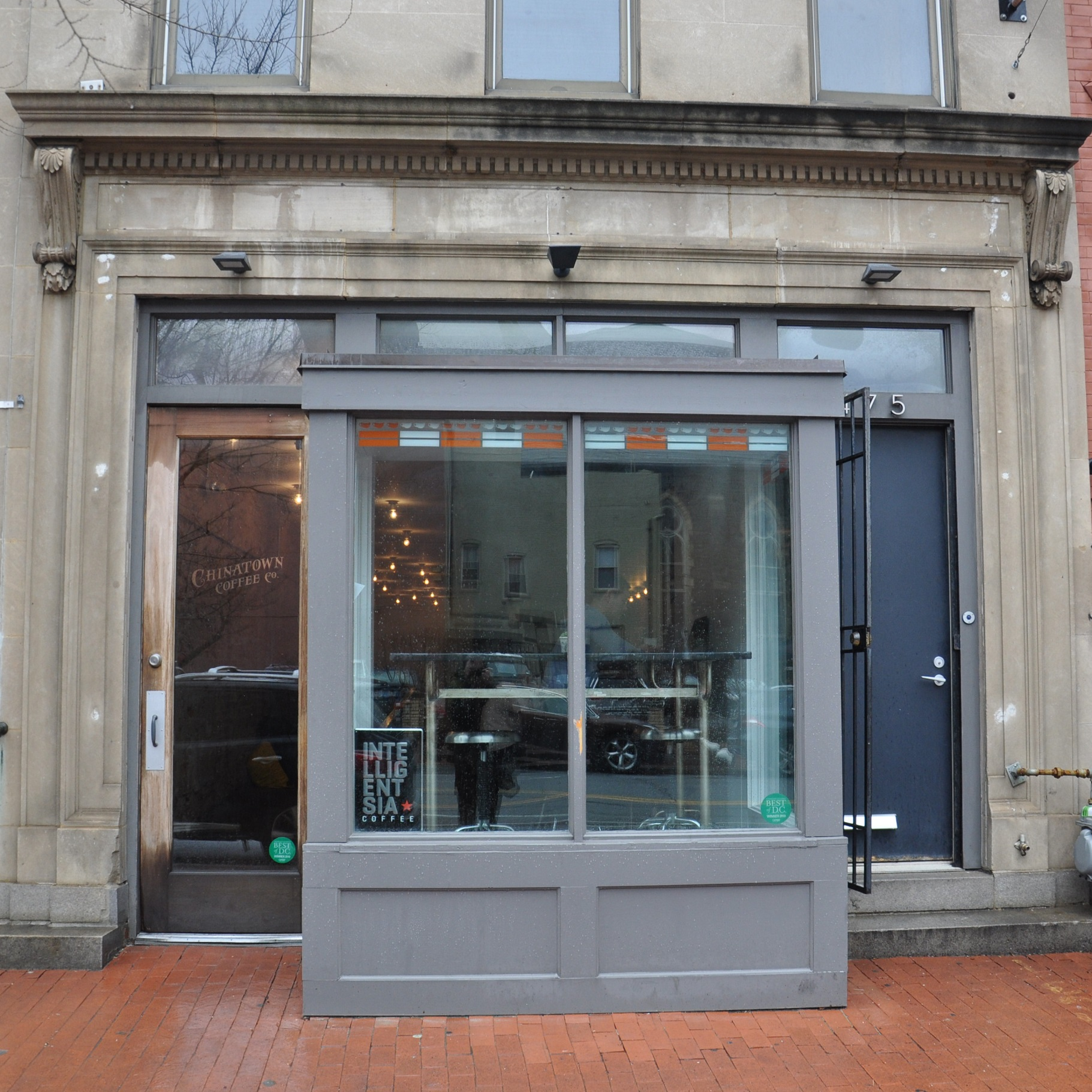 The front of Chinatown Coffee Co on H Street in Washington DC