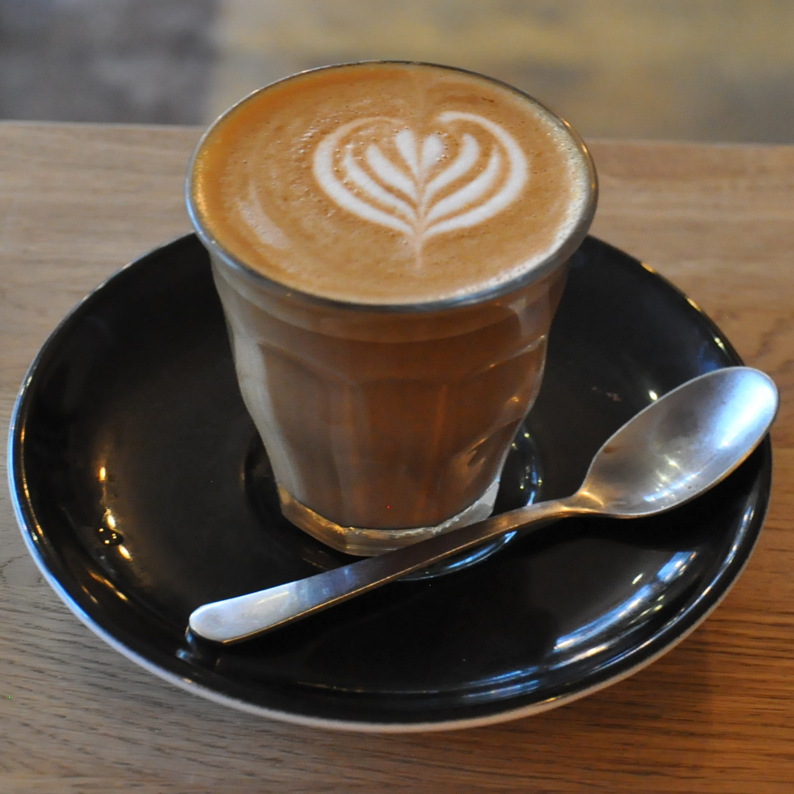A lovely piccolo, made with Origin's seasonal Resolute blend, and served in a glass at Hoxton North, Royal Parade, Harrogate.