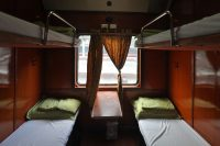 My sleeper compartment on the TN2 train from Ho Chi Minh City to Hanoi.