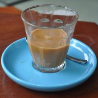 Traditional Vietnamese cup-top filter coffee with condensed milk from The Espresso Station in Hoi An