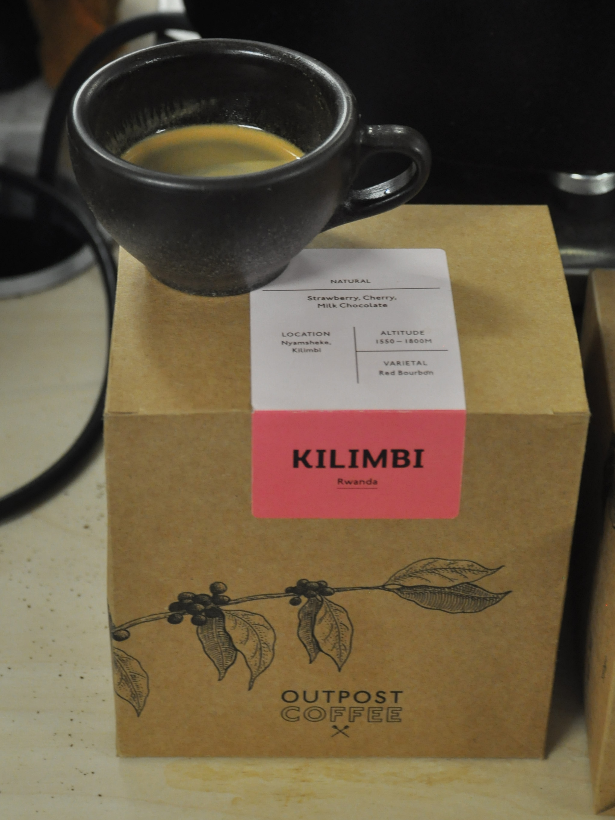 An espresso from Outpost Coffee's Kilimbi from Rwanda in my Kaffeeform recycled cup at the London Coffee Festival.