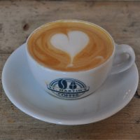 A lovely flat white made with the Friday Street Blend at St Martin's in Leicester.