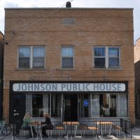 The front of Johnson Public House on East Johnson Street in Madison.
