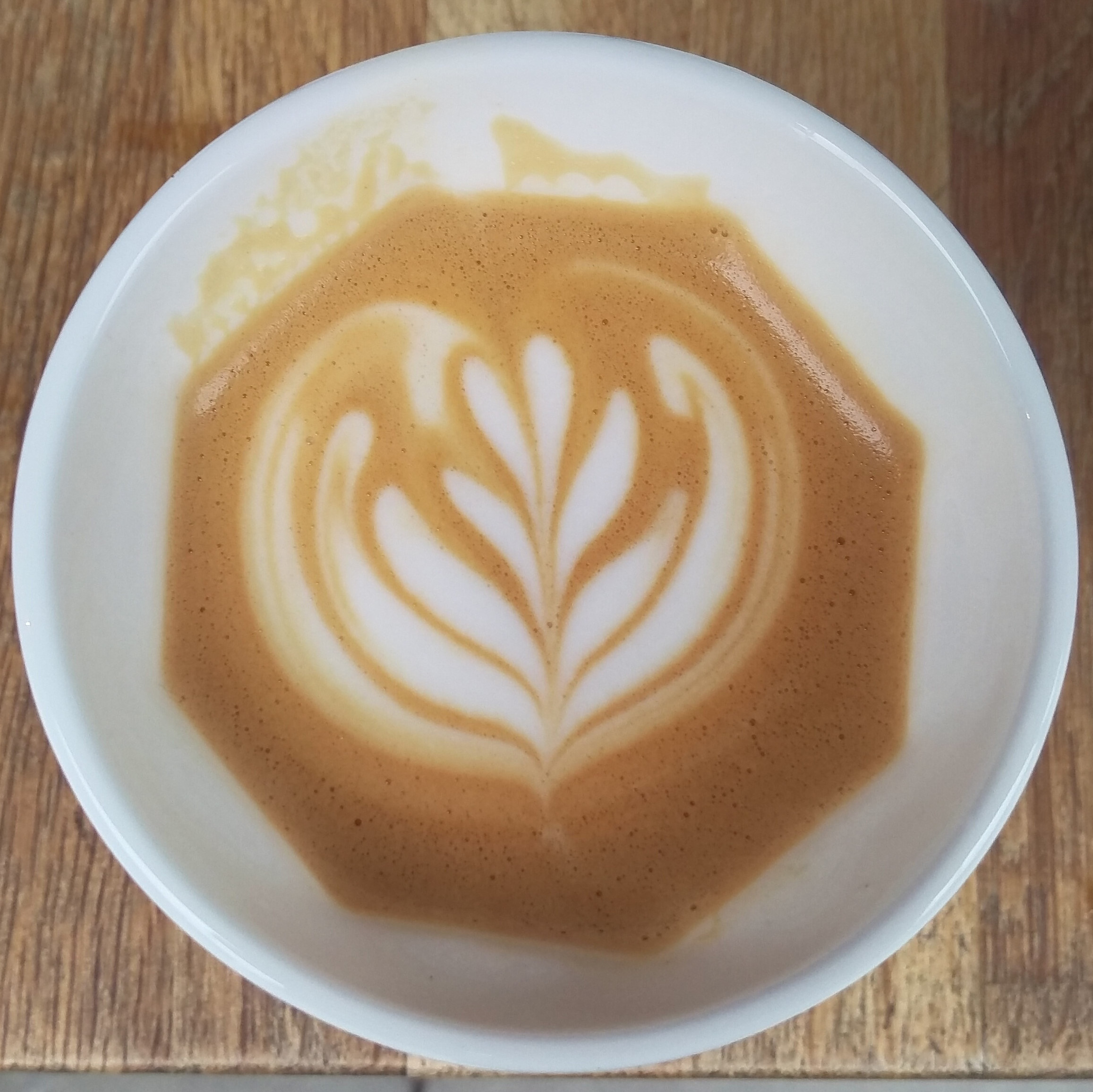 Some beautiful latte art by Craft Coffee at King's Cross in my Therma Cup.