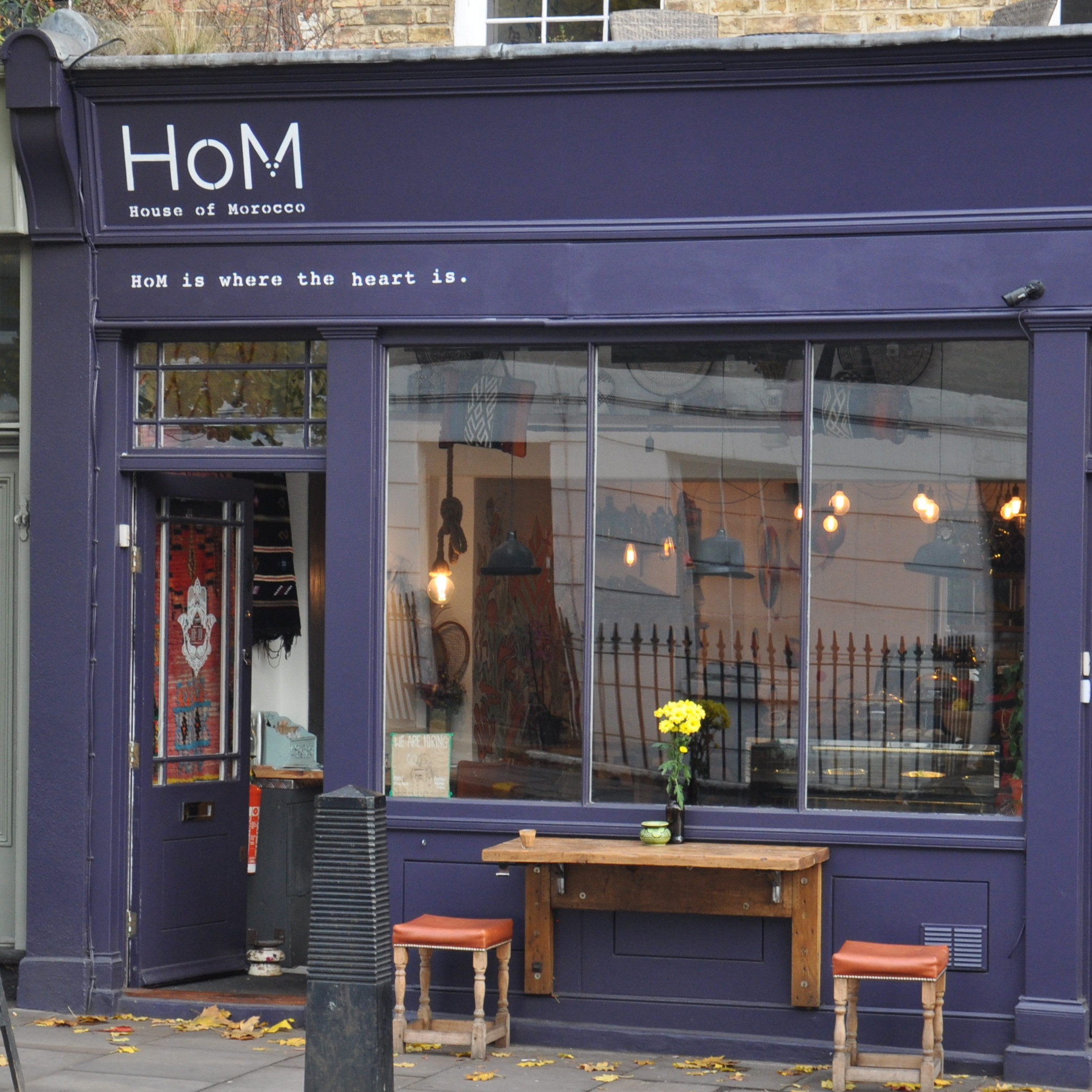 """House of Morocco (HoM for short) with its slogan """"HoM is where the heart is"""" is a new addition to London's coffee scene, occupying the site of what was Pattern Coffee."""