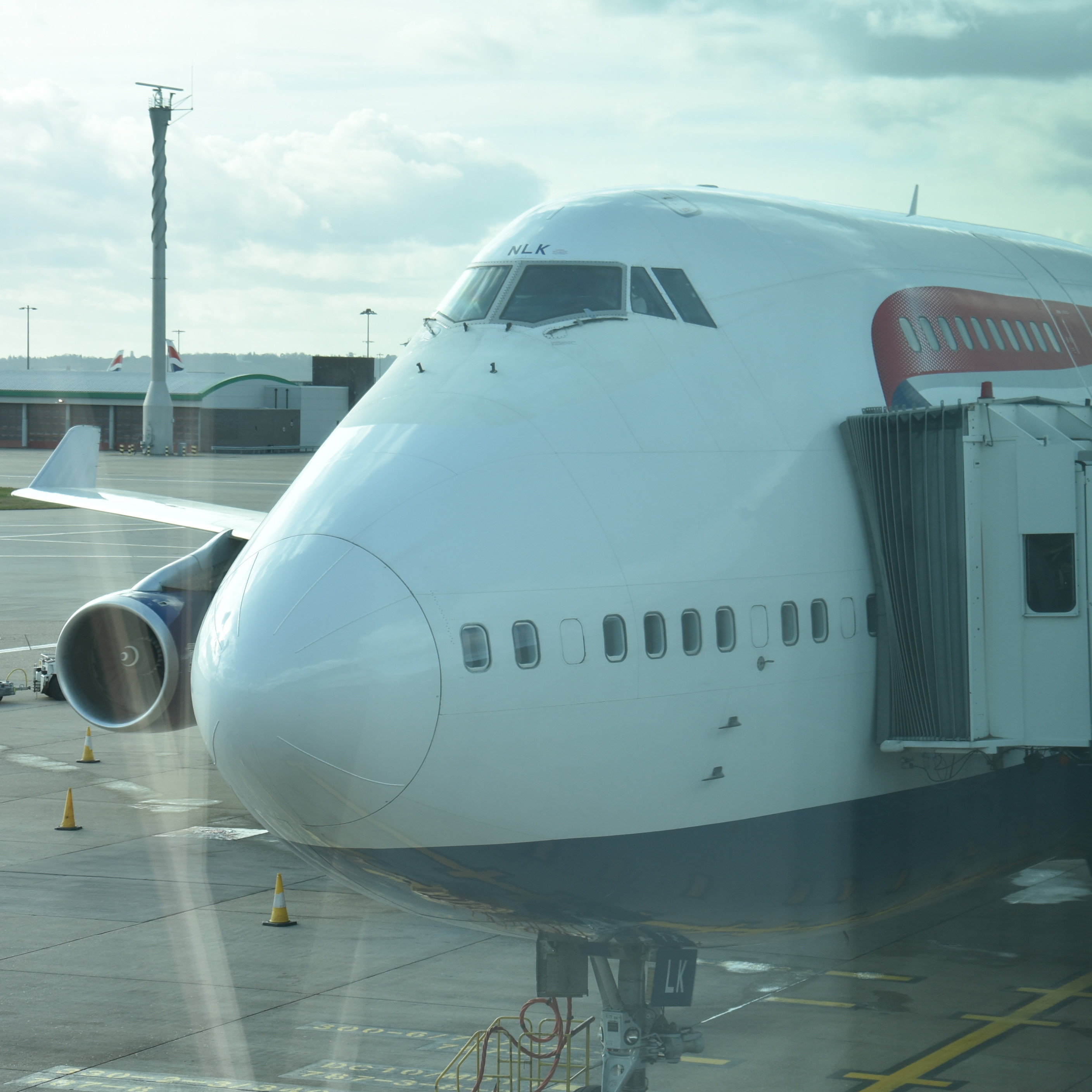The British Airways 747 which flew me back from Phoenix, on the stand at Heathrow Terminal 3.