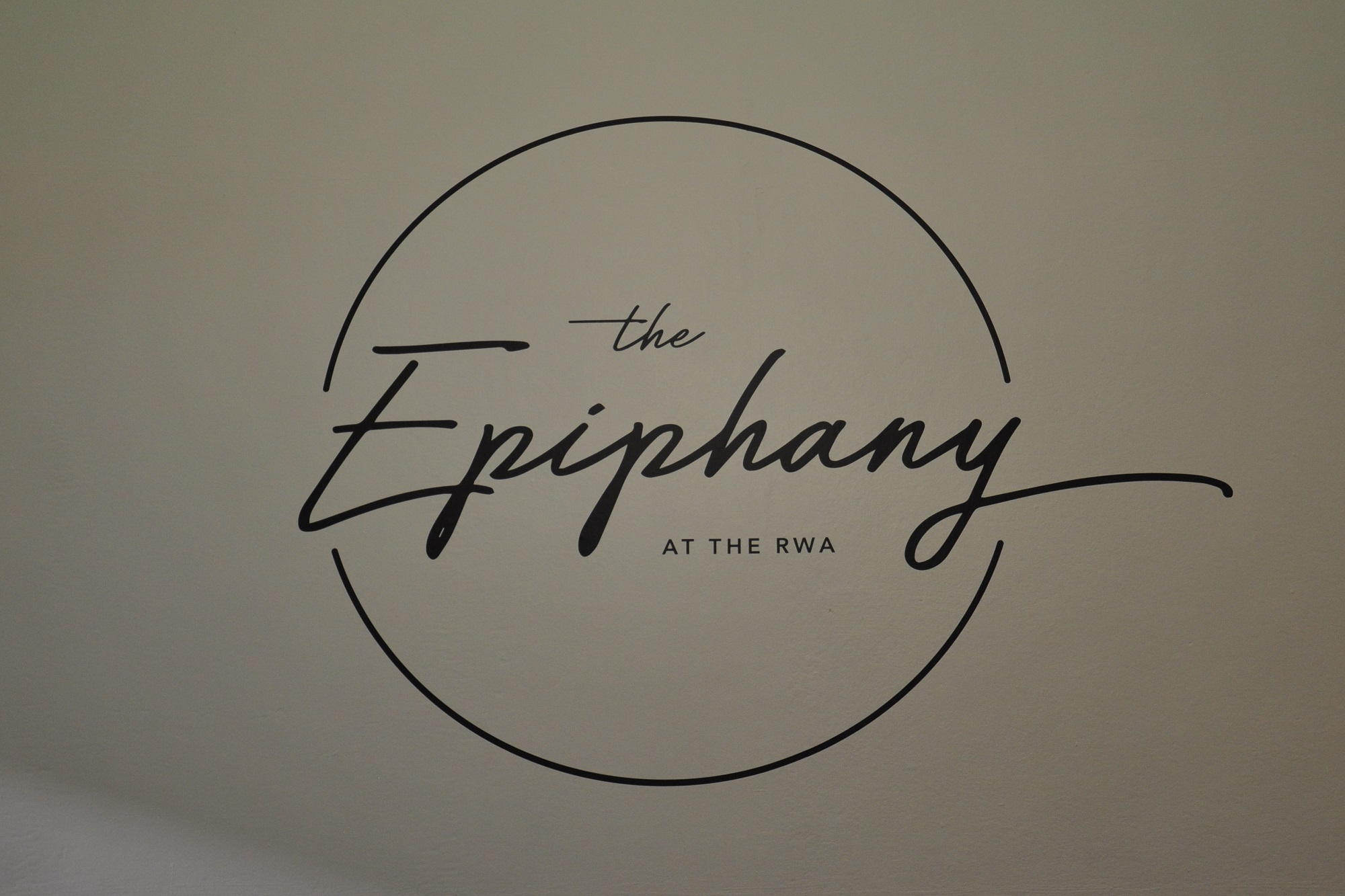 The logo of The Epiphany, a speciality coffee shop at the RWA in Bristol.