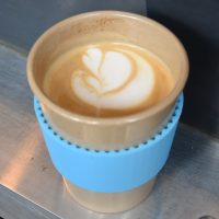 A lovely flat white from the Browns of Brockley coffee van, served in my Eco To Go cup at a test match at Lord's.