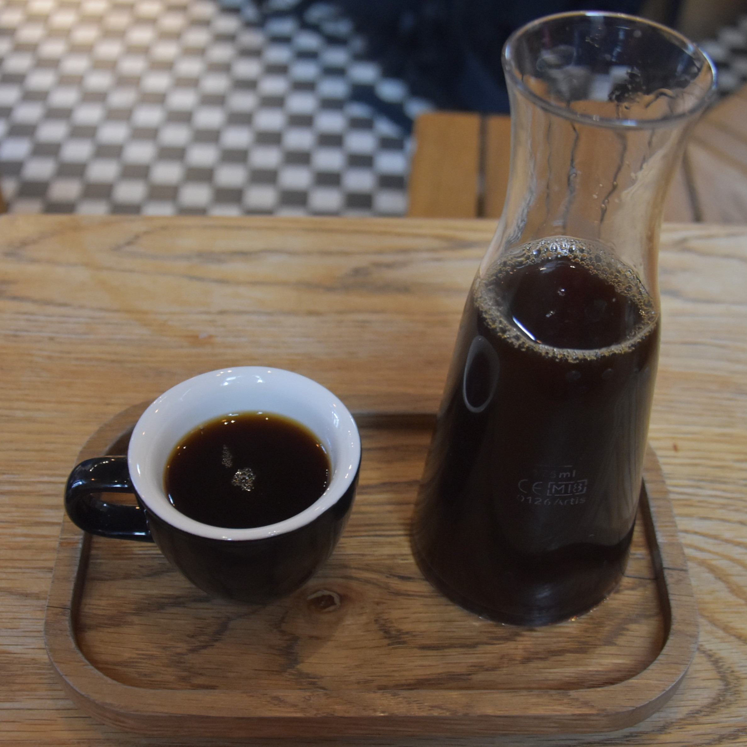 A batch-brew of a beautiful Ethiopian Ardi naturally-processed coffee, served at The Watch House on Bermondsey Street, London.
