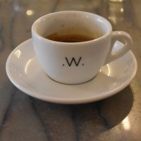 My espresso, a single-origin Rwanda, roasted and served at White Label Coffee.