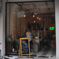 The front of Gau Coffee Roasters in the Old City, Hanoi.