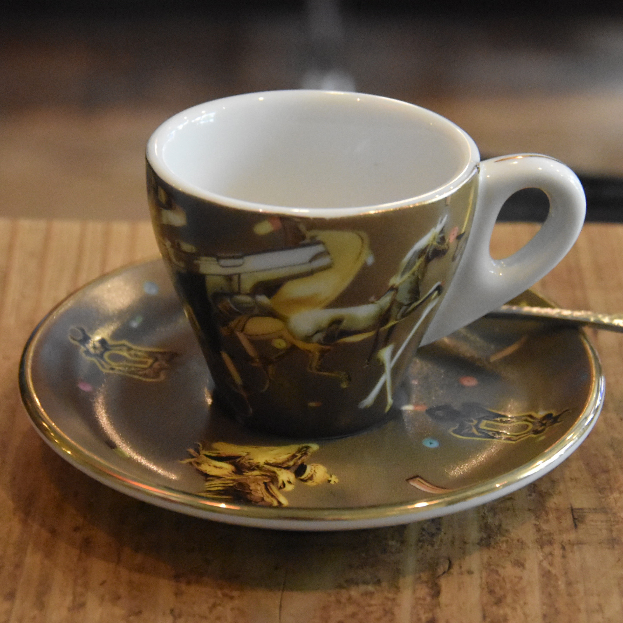 One of the lovely espresso cups at Sarutahiko Coffee Ebisu